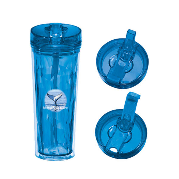 18oz Hot & Cold Flip N Sip Geometric Tumbler - DP1624-72