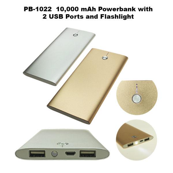 10000mah Alum Power Bank - NPB1022-245