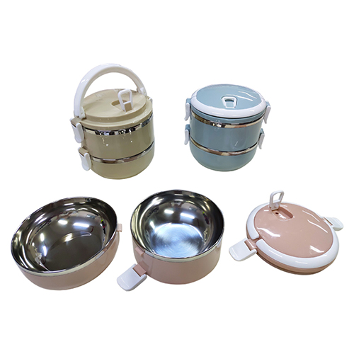 2 Tier Stainless Steel Lunch Box - M427-72